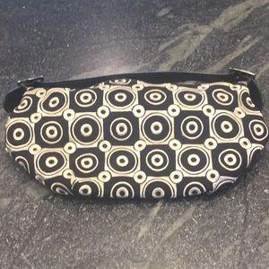 Handbags - Black and cream satin handbag